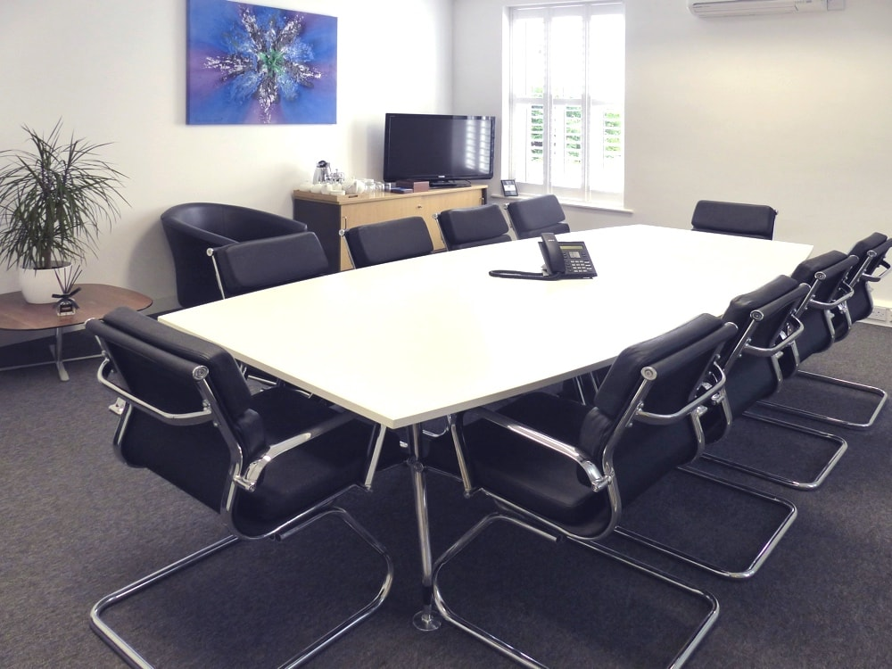 Large meeting room for hire at 19 West Street in Epsom